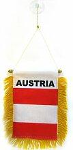 AZ FLAG Fanion Autriche 15x10cm - Mini Drapeau