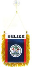 AZ FLAG Fanion Belize 15x10cm - Mini Drapeau