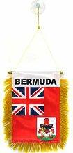 AZ FLAG Fanion Bermudes 15x10cm - Mini Drapeau des