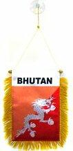 AZ FLAG Fanion Bhoutan 15x10cm - Mini Drapeau