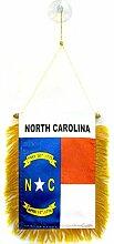 AZ FLAG Fanion Caroline du Nord 15x10cm - Mini
