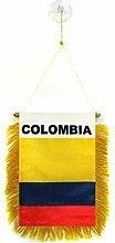 AZ FLAG Fanion Colombie 15x10cm - Mini Drapeau