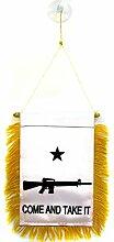 AZ FLAG Fanion comme and Take it Fusil 15x10cm -