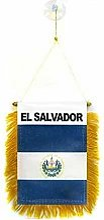 AZ FLAG Fanion El Salvador 15x10cm - Mini Drapeau