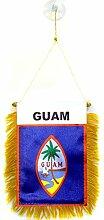 AZ FLAG Fanion Guam 15x10cm - Mini Drapeau