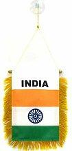AZ FLAG Fanion Inde 15x10cm - Mini Drapeau Indien