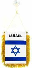 AZ FLAG Fanion Israël 15x10cm - Mini Drapeau