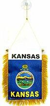 AZ FLAG Fanion Kansas 15x10cm - Mini Drapeau Etat
