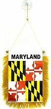 AZ FLAG Fanion Maryland 15x10cm - Mini Drapeau