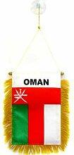 AZ FLAG Fanion Oman 15x10cm - Mini Drapeau omanais