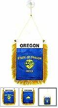 AZ FLAG Fanion Oregon 15x10cm - Mini Drapeau Etat