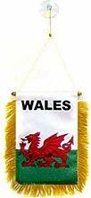 AZ FLAG Fanion Pays de Galles 15x10cm - Mini