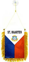 AZ FLAG Fanion Pays de Saint-Martin 15x10cm - Mini