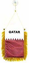 AZ FLAG Fanion Qatar 15x10cm - Mini Drapeau