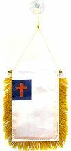 AZ FLAG Fanion Religion Chrétienne 15x10cm - Mini
