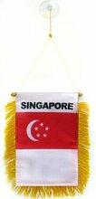 AZ FLAG Fanion Singapour 15x10cm - Mini Drapeau
