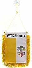 AZ FLAG Fanion Vatican 15x10cm - Mini Drapeau