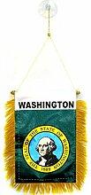 AZ FLAG Fanion Washington 15x10cm - Mini Drapeau
