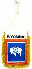 AZ FLAG Fanion Wyoming 15x10cm - Mini Drapeau Etat