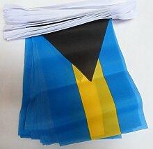 AZ FLAG Guirlande 12 mètres 20 Drapeaux Bahamas