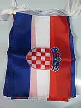 AZ FLAG Guirlande 12 mètres 20 Drapeaux Croatie
