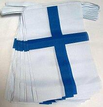AZ FLAG Guirlande 12 mètres 20 Drapeaux Finlande