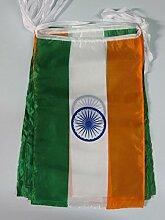 AZ FLAG Guirlande 12 mètres 20 Drapeaux Inde