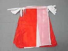AZ FLAG Guirlande 12 mètres 20 Drapeaux Pologne