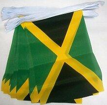 AZ FLAG Guirlande 4 mètres 20 Drapeaux Jamaïque