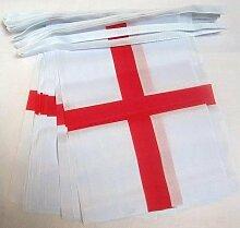 AZ FLAG Guirlande 6 mètres 20 Drapeaux Angleterre