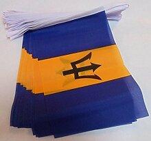 AZ FLAG Guirlande 6 mètres 20 Drapeaux Barbade