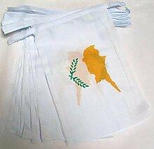 AZ FLAG Guirlande 6 mètres 20 Drapeaux Chypre