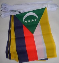 AZ FLAG Guirlande 6 mètres 20 Drapeaux Comores