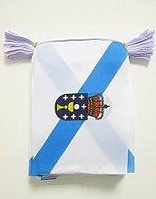 AZ FLAG Guirlande 6 mètres 20 Drapeaux Galice