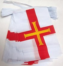 AZ FLAG Guirlande 6 mètres 20 Drapeaux Guernesey