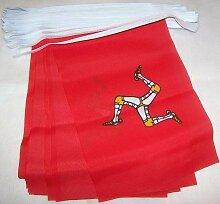 AZ FLAG Guirlande 6 mètres 20 Drapeaux Ile de Man