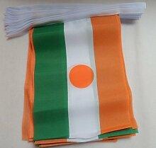 AZ FLAG Guirlande 6 mètres 20 Drapeaux Niger