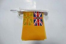 AZ FLAG Guirlande 6 mètres 20 Drapeaux Niue 21x15