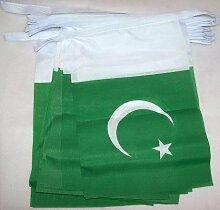 AZ FLAG Guirlande 6 mètres 20 Drapeaux Pakistan