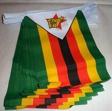 AZ FLAG Guirlande 6 mètres 20 Drapeaux Zimbabwe
