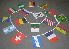 AZ Flag Guirlande Drapeau, Multicolore