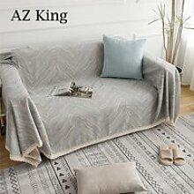 AZ KING-Jeté de Canapé Tricotée Antidérapage -