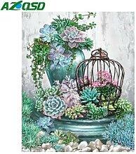 AZQSD – peinture diamant thème fleurs, broderie