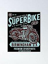 AZSTEEL Motorcycle Cafe Bike Poster Poster 11.7 *