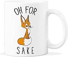 AZSTEEL Oh for Fox Sake Fox Coffee Mug Oh for Fox