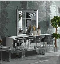 Azura Home Design - Buffet GRI BLANC 4 portes -