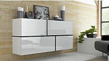 Azura Home Design - Buffet SAKIA suspendu noir ou