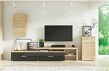 Azura Home Design - Ensemble meuble TV RUST - Noir