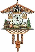 B Blesiya Horloge Quartz Moderne Mural en Bois