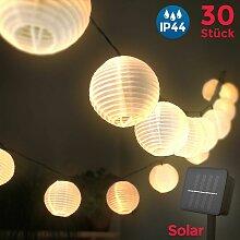 B.k.licht - Guirlande LED solaire extérieur 30